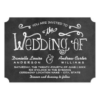 wedding invitation | black chalkboard charm