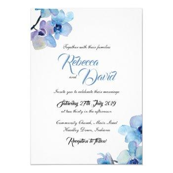 wedding invitation | blue orchid