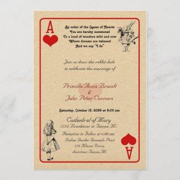 "wedding invitation card ""alice in wonderland""as5x7"