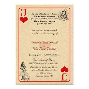 "wedding invitation card ""alice in wonderland"" j5x7"