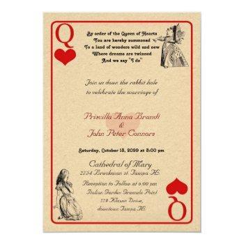 "wedding invitation card ""alice in wonderland"" q5x7"