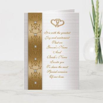 wedding invitation elegant gold border