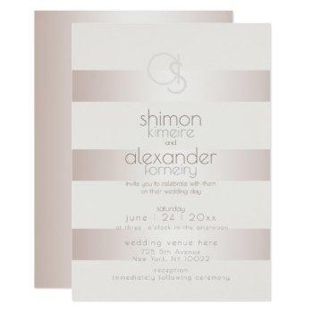 wedding invitation | elegant modern blush pearl