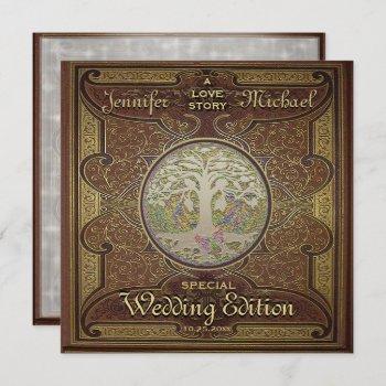 wedding invitation - love story romantic