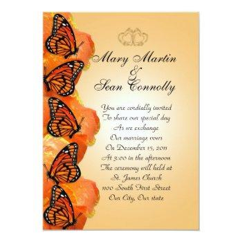 wedding invitation monarch butterflies