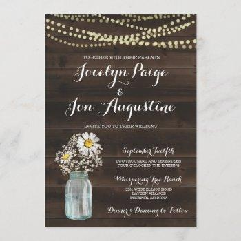 wedding invitation | rustic chamomile / daisy