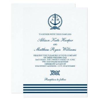 wedding invitations   nautical stripes theme