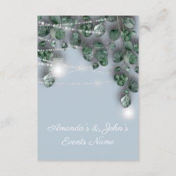 wedding lights jars rustic green mint blue invitation