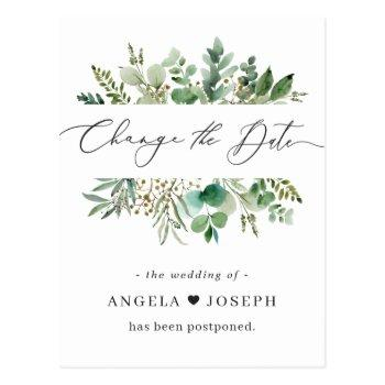 wedding postponed announcement change the date postcard
