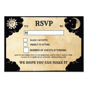 wedding rsvp ouija tarot cards halloween