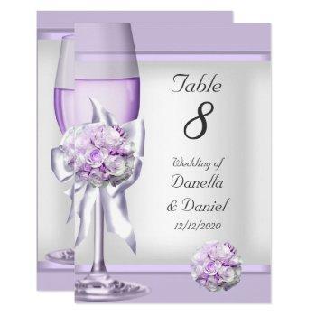 wedding table number lavender purple lilac 3