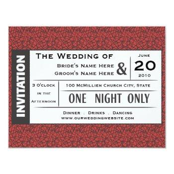 wedding ticket! invitation