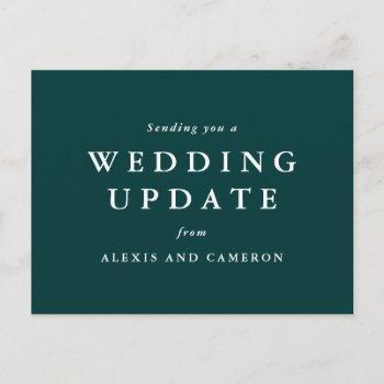 wedding update classic hunter green postcard