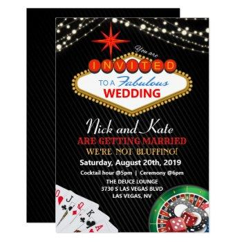 wedding vegas casino invitation