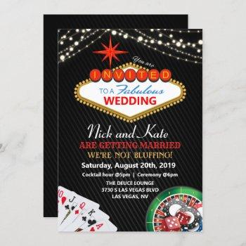 wedding vegas casino invitation