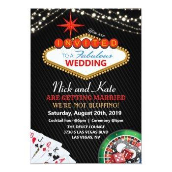 Small Wedding Vegas Casino Invitation Front View