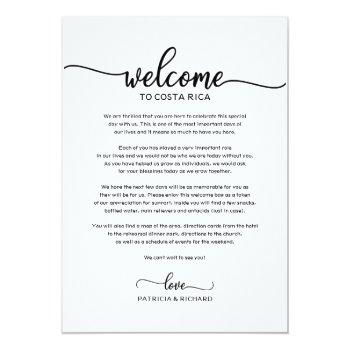 wedding weekend welcome and itinerary letter chic invitation