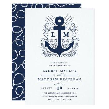 well anchored | nautical wedding invitation
