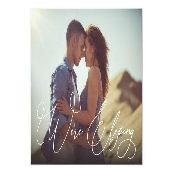 Small We're Eloping Wedding Update Photo Announcement Postcard Front View