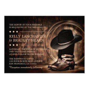 western cowboy wild west wedding invitations