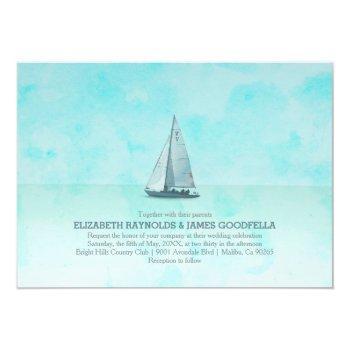 whimsical boat wedding invitations