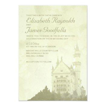 whimsical fairytale castle wedding invitations