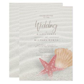 white sands starfish wedding id605 invitation
