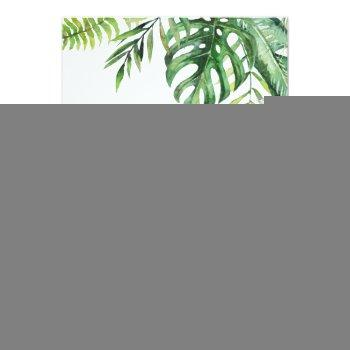 Small Wild Tropical Palm Casual Wedding Invitation Front View