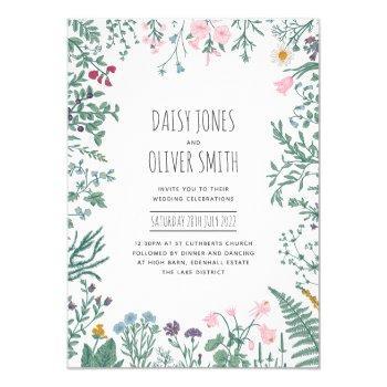 wildflower botanical floral wedding invitation