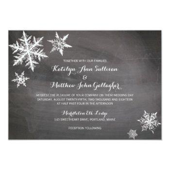 winter frost snowflakes | wedding invitation