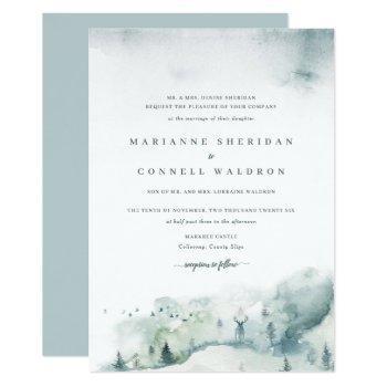 winter mystère i formal wedding invitation