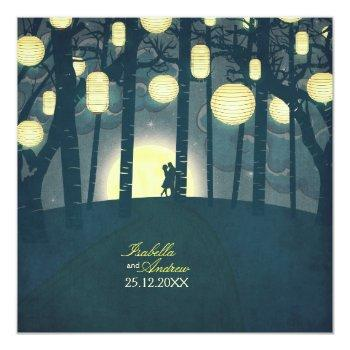 wish lanterns dream forest invitation