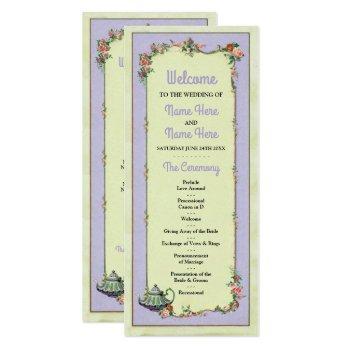 wonderland teapot floral wedding program details