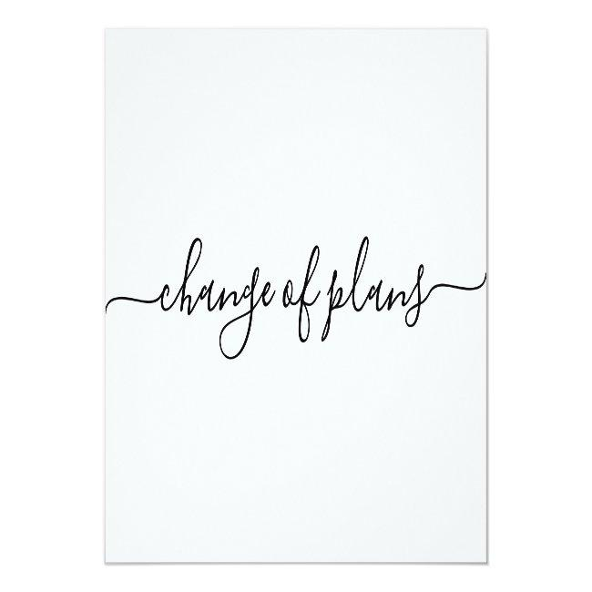 Change Of Plans | Postponed Wedding Announcement Postcard