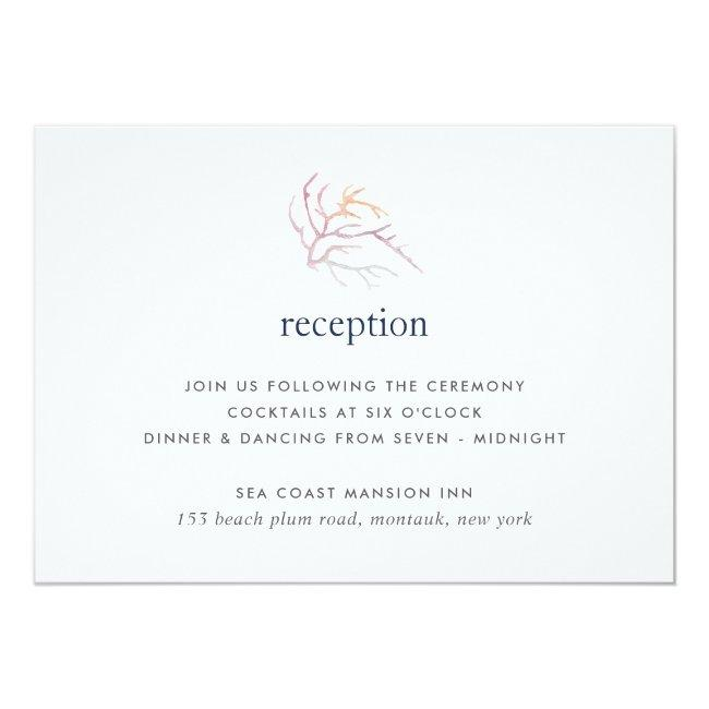 Coral Reef Reception Card