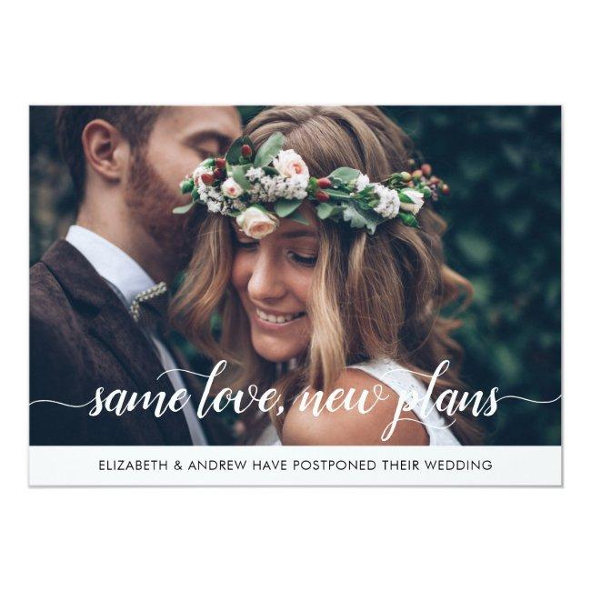 Elegant Same Love New Plans Change Of Date Photo Announcement