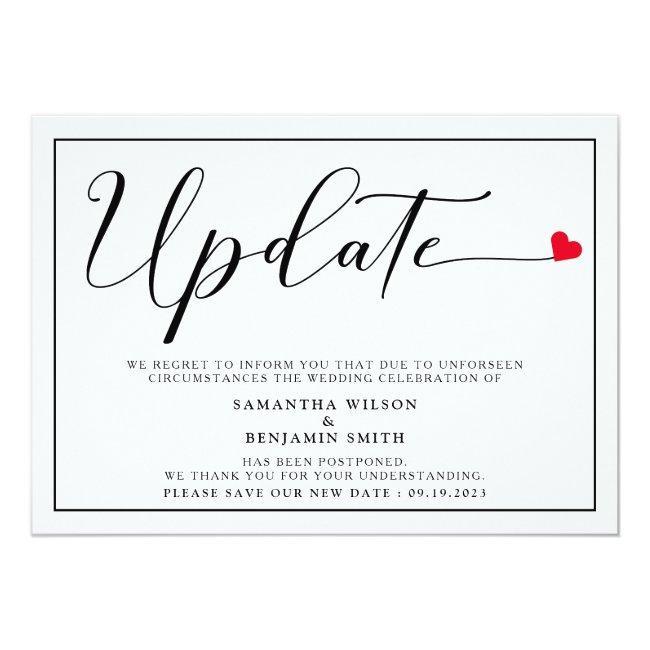 Elegant Simple Wedding Update Invitation