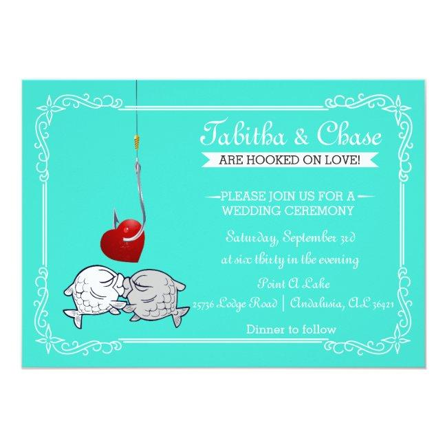 Kissing Fish Wedding Invitations