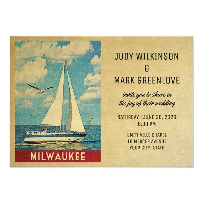 Milwaukee Wedding Invitation Sailboat