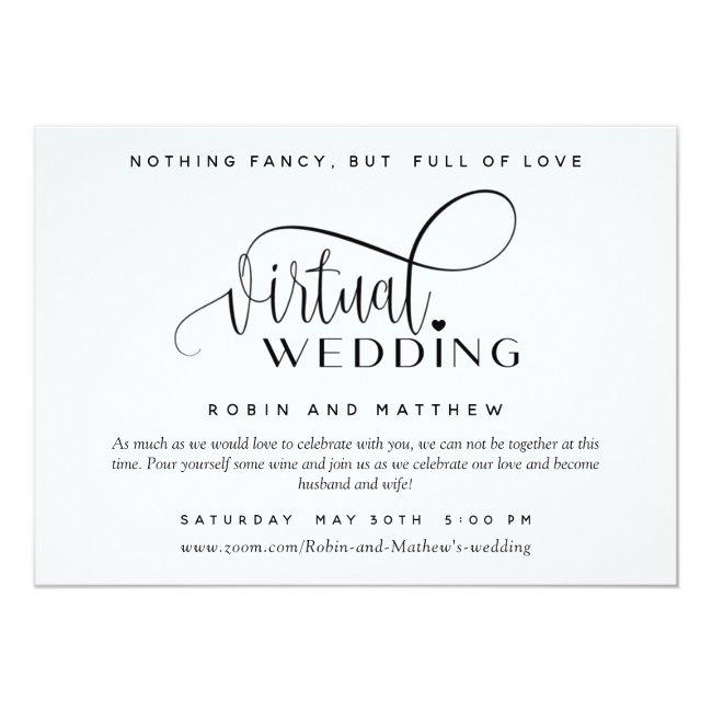 Modern Simple Online Virtual Wedding Invitation