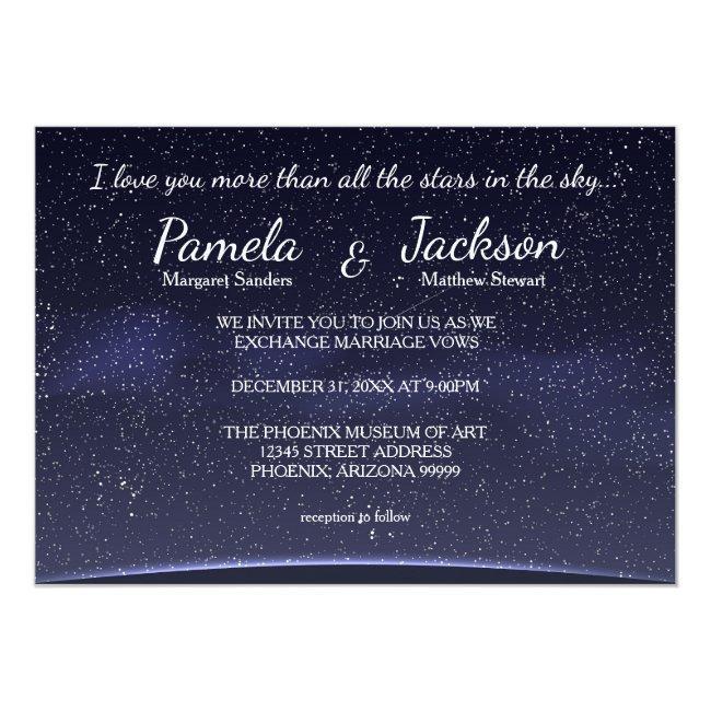 More Than All The Stars - Wedding Invitation