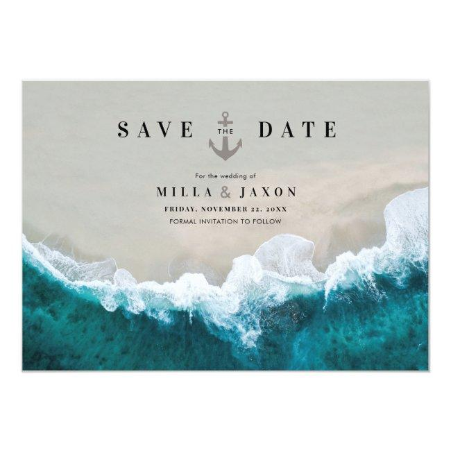 Save The Date Card Beach Summer Nautical Themed