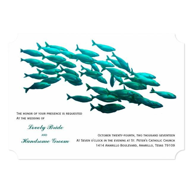 School Of Fish Wedding Invitation