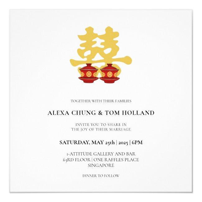 Tea Ceremony Chinese Wedding Invitations